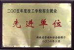 2005年度技工学校招生就業先进单位